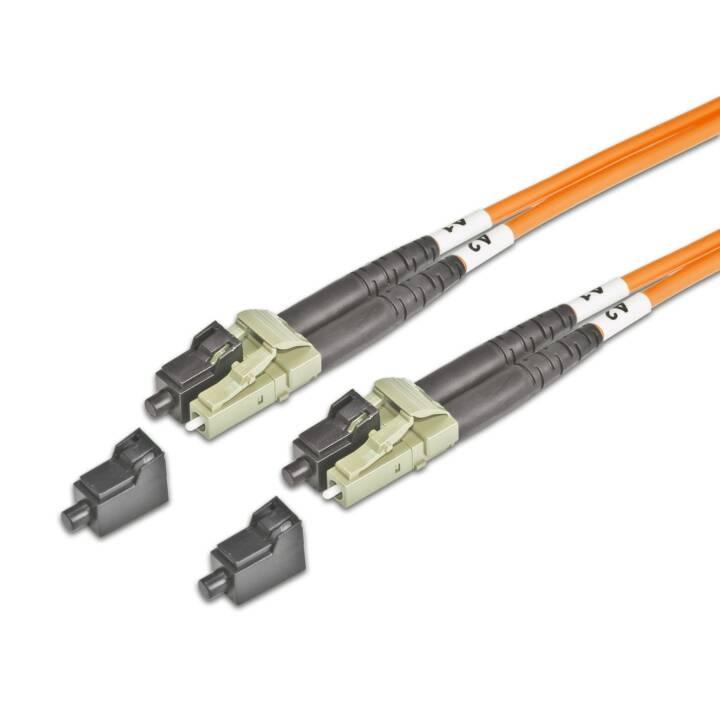 LIGHTWIN LDP-50 LC-LC 15.0 15m Orange Glasfaserkabel