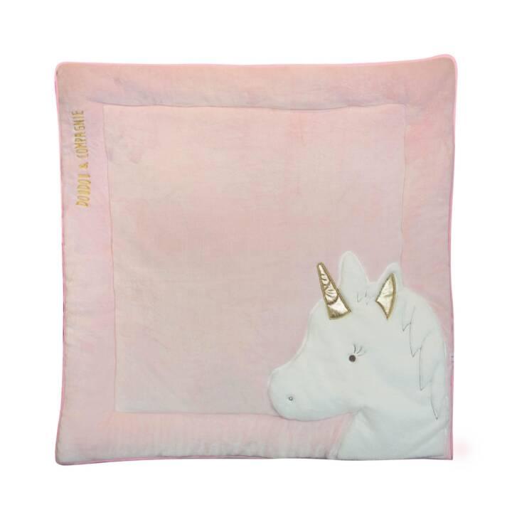 DOUDOU ET COMPAGNIE Tapis d'éveil Tapidou Unicorn (Blanc, Rose)