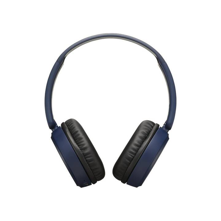 JVC HA-S35BT (Over-Ear, Bluetooth 4.1, Blau)