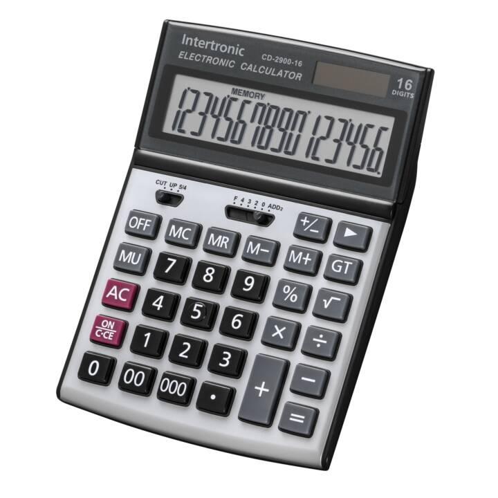 INTERTRONIC CD2900 Taschenrechner (Batterie / Akku, Solarzellen)