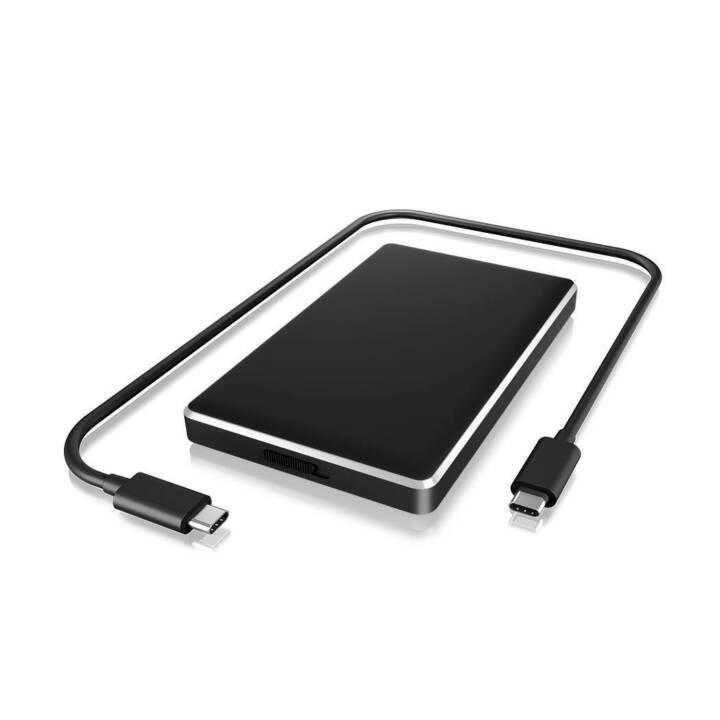 ICY BOX IB-245-C31-B HDD / SSD-Gehäuse 2.5Zoll Schwarz Speicherlaufwerksgehäuse