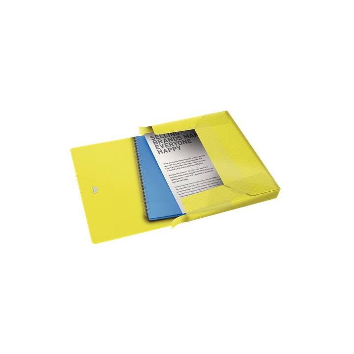 ESSELTE GROUP Cartella in gomma COLOUR'ICE 25 mm giallo