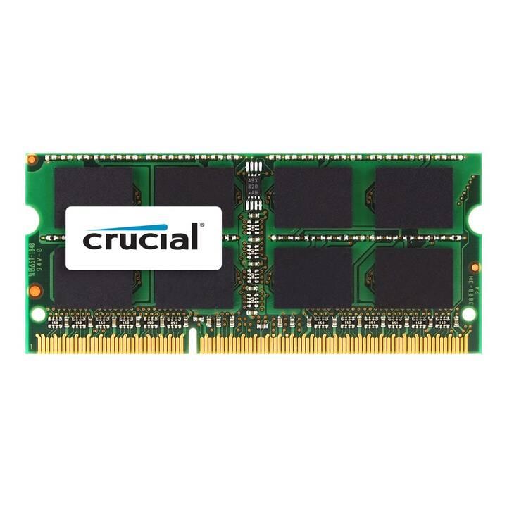 CRUCIAL CT8G3S1339M (1 pièce, 8 Go, DDR3-SDRAM, SO-DIMM 204-Pin)