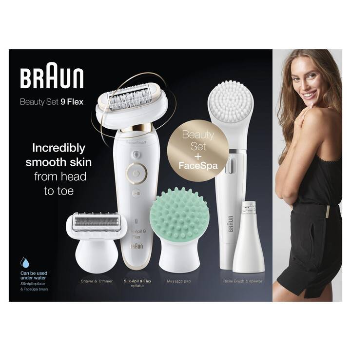 BRAUN Silk-épil 9-9300 Flex (Bianco, Oro)