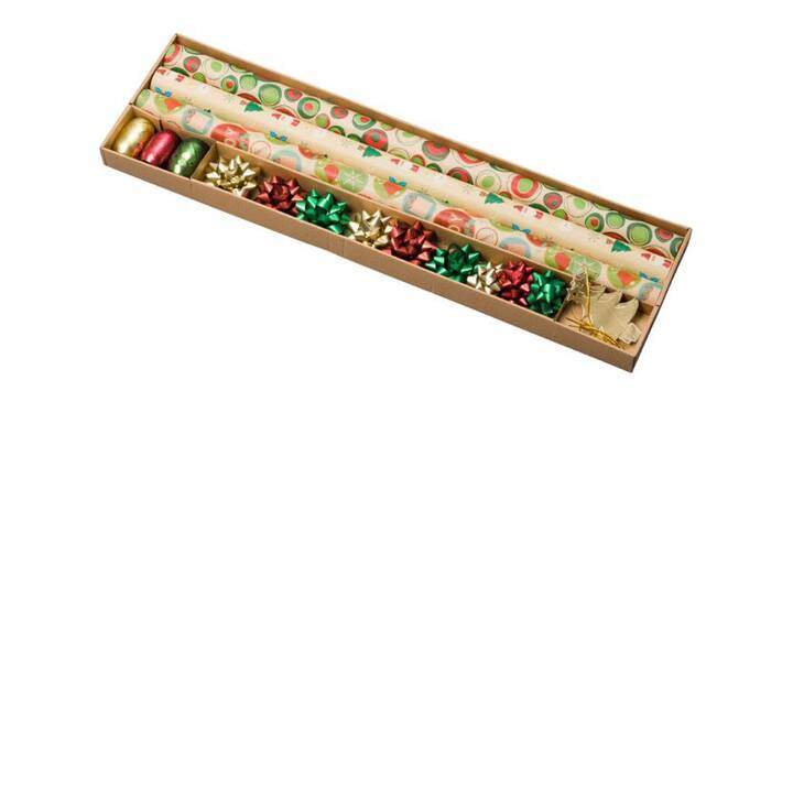 HOME TO BE Carta regalo Set X-Mas (70 cm x 200 cm, Multicolore, Natale)