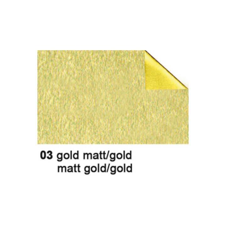 URSUS foglio di alluminio artigianale, 50x80cm, 90g/m2, oro/oro opaco