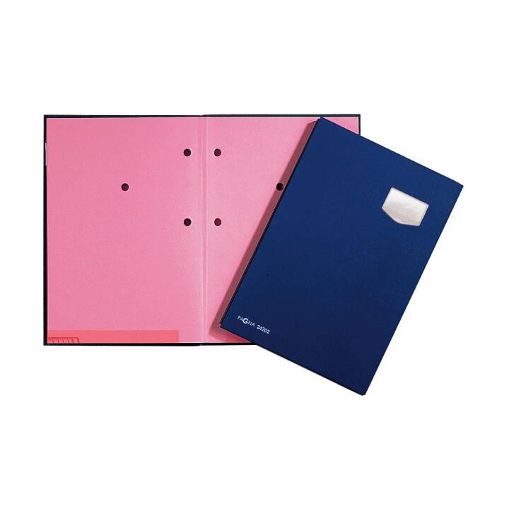 PAGNA Unterschriftenmappe A4 blau