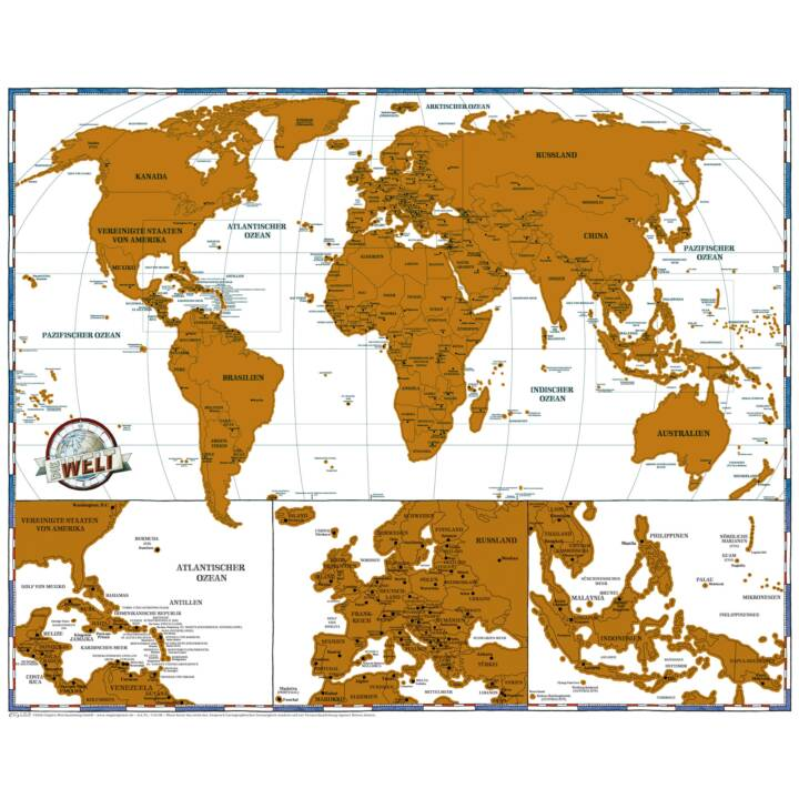 Isostrade Rubbel-Karte Welt Reise Editio