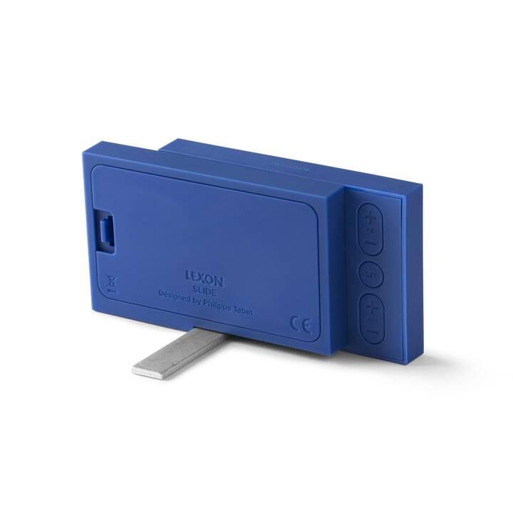 LEXON Klassischer Wecker Slide (Blau)