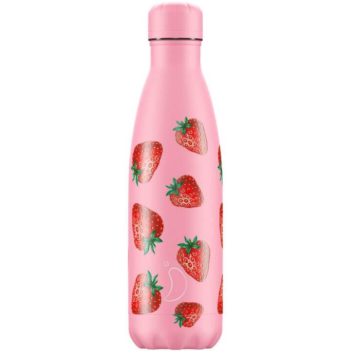 CHILLY'S Borraccia Strawberry (0.5 l, Rosa, Rosso)
