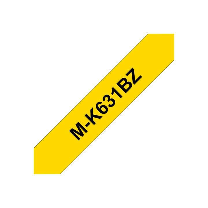 BROTHER MK631BZ Schriftband (12 mm x 8 m, Schwarz / Gelb)