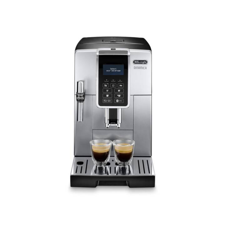 DELONGHI Dinamica ECAM 350.35.SB (Silber, Schwarz, 1.8 l, Kaffeevollautomat)
