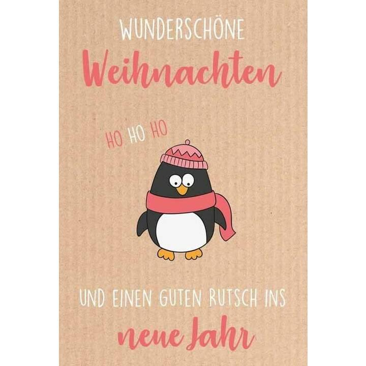 SEIDEL Weihnachtskarte Pinguin (Weihnachten / Advent, C6, Mehrfarbig)
