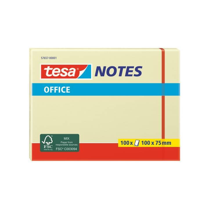 TESA Office Notes 75x100mm gelb 100 Blatt