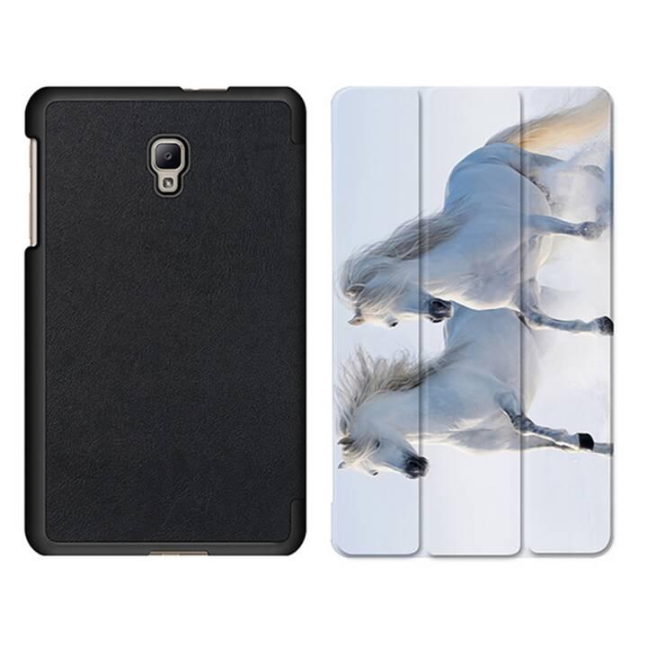 """EG MTT Tablet Tasche mit Smart faltbare Abdeckung für Samsung Galaxy Tab A 8"""" (2017)- Zebra"""