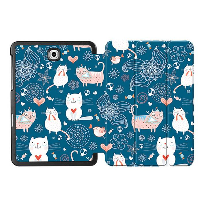 "EG MTT Coque Tablette pour Samsung Galaxy Tab S2 8"" - Chat"
