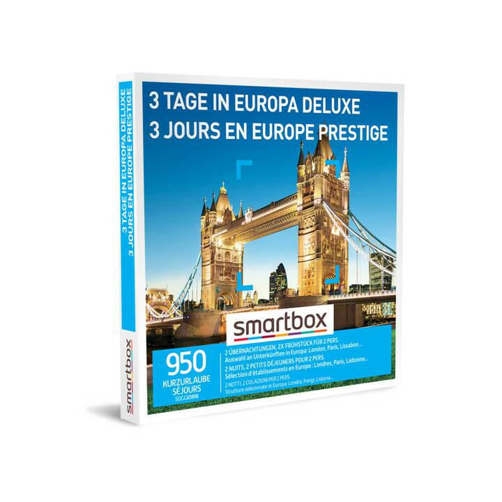 SMARTBOX 3 Tage in Europa Deluxe
