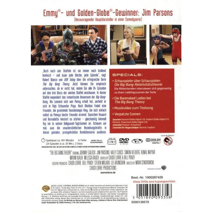 The Big Bang Theory Stagione 4 (PL, DE, EN, CS)