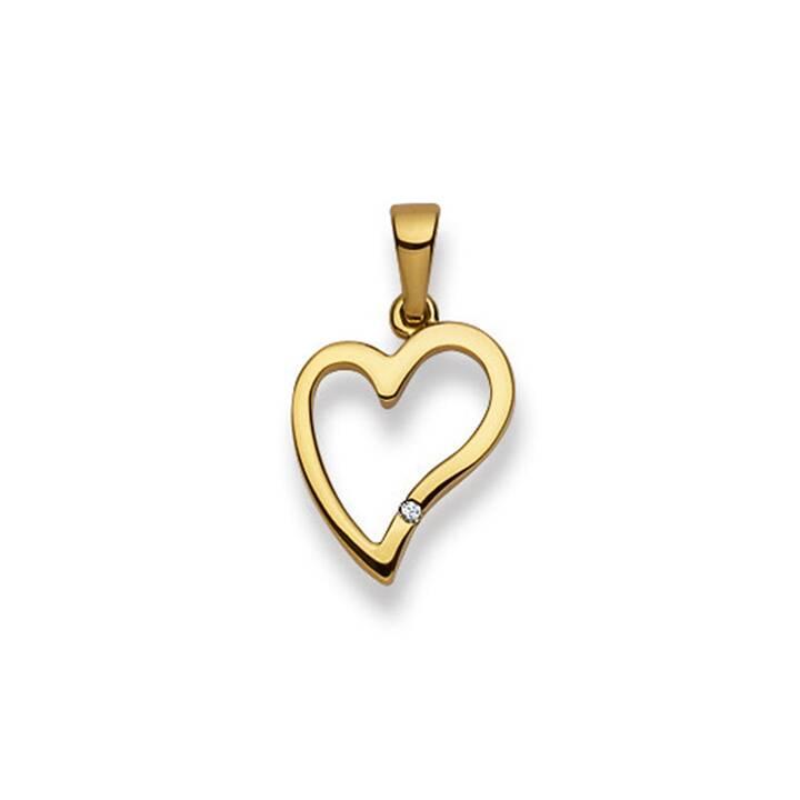 MUAU Herz Anhänger (Diamant, 21 mm)