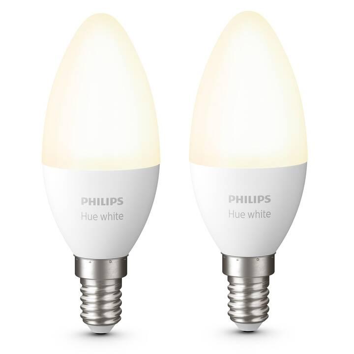 PHILIPS HUE Ampoule LED White BT (E14, 5.5 W)