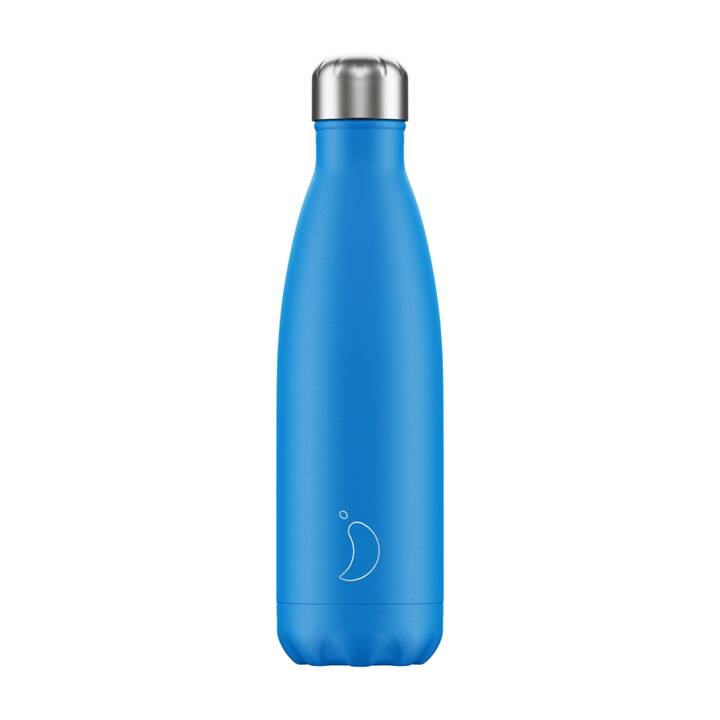 CHILLY'S Bottiglia sottovuoto Neon (0.5 l, Blu)