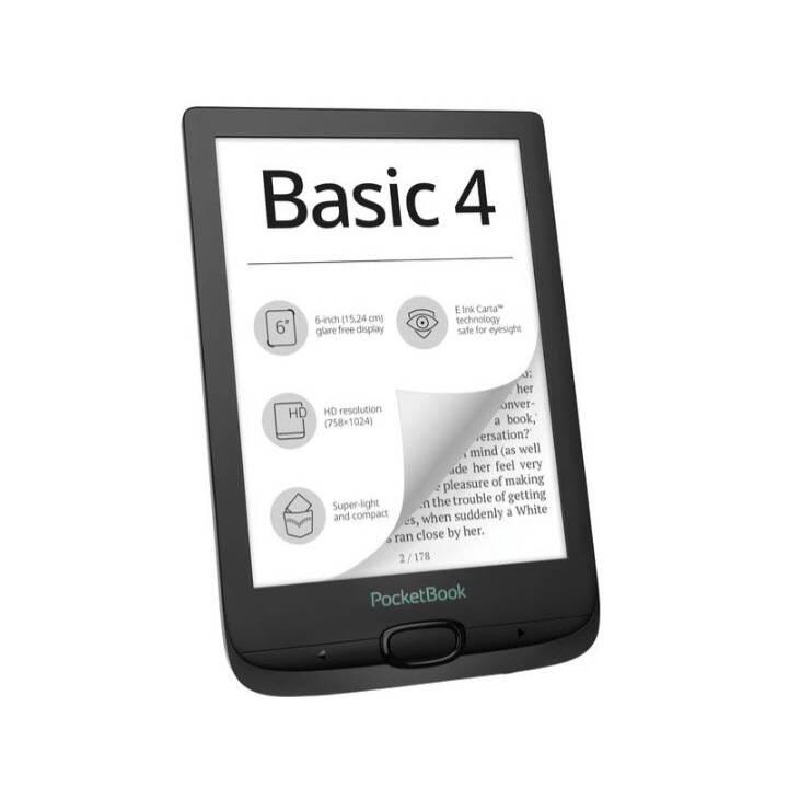 """POCKETBOOK Basic 4 (6"""", Schwarz, WLAN, 8 GB)"""