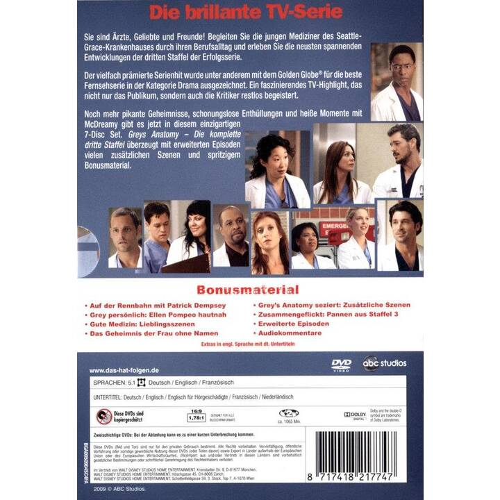 Grey's Anatomy Staffel 3 (EN, DE, FR)