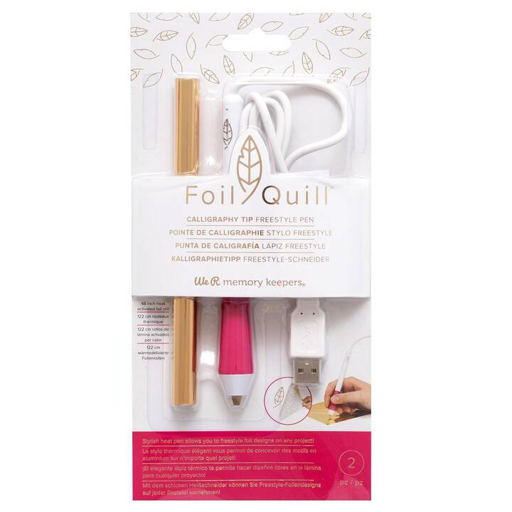 WE R MEMORY KEEPERS Jeu d'outils Foil Quill (Blanc, Pink, Doré)