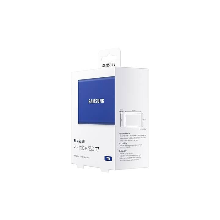 SAMSUNG Portable SSD T7 (NVMe, 1000 GB, Blu)
