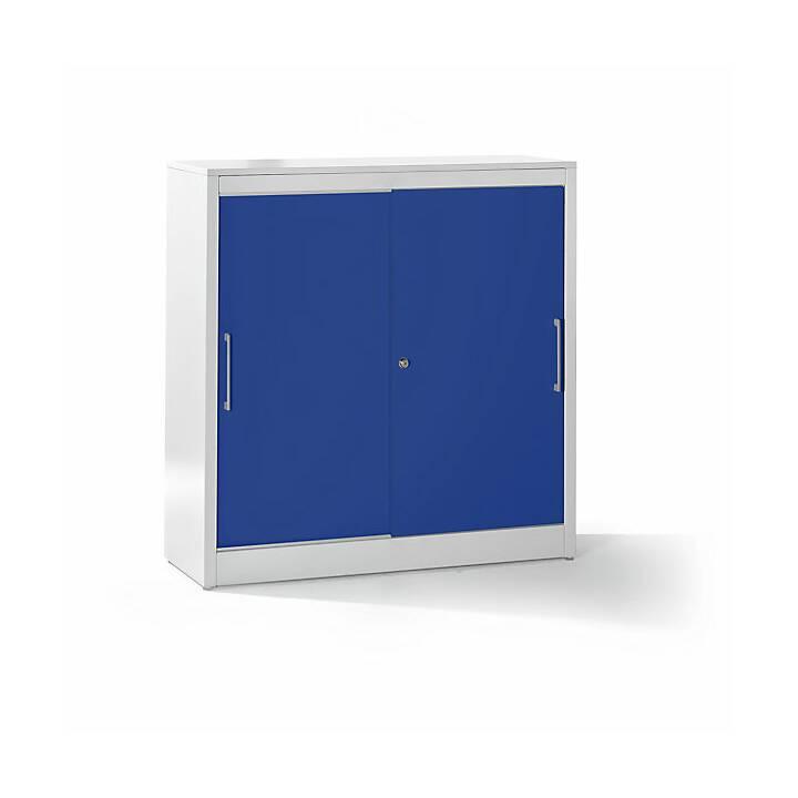 MAUSER Armadio con ante scorrevoli (Grigio, Blu, 120 x 42 cm)