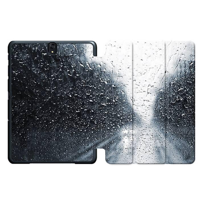 """EG MTT Tablet Tasche mit Smart faltbare Abdeckung für Samsung Galaxy Tab S3 9.7 """"- Waterdrops"""