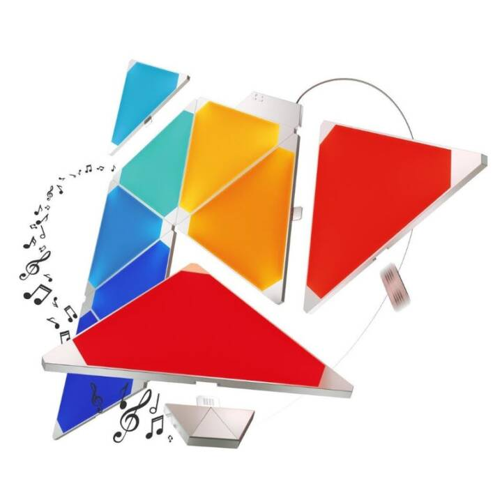NANOLEAF Luce d'atmosfera LED Smarter 9P Rhythm (Bianco)