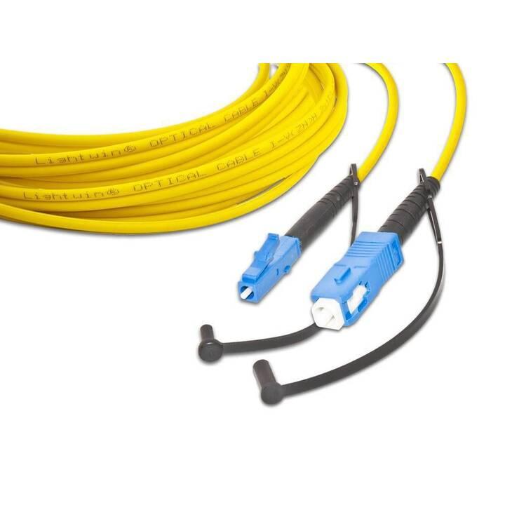 LIGHTWIN Netzwerkkabel (SC Single-Modus, LC Single-Modus, 2 m)