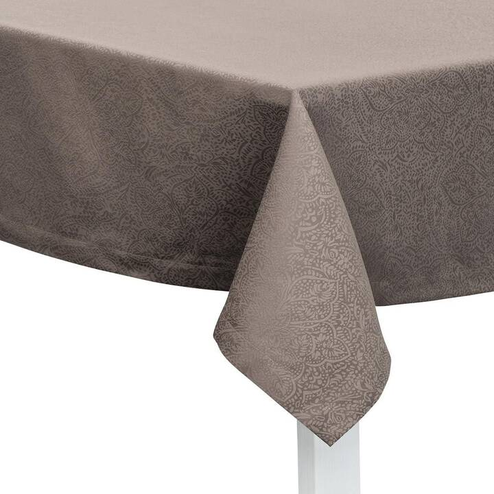 PICHLER Nappe Beverly Taupe (130 cm x 170 cm, Rectangulaire, Gris)