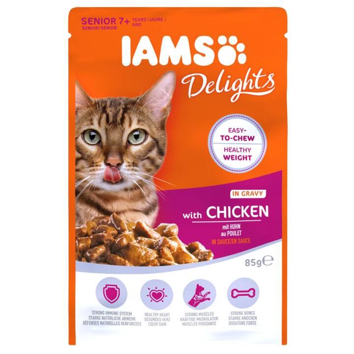 IAMS Delights (Senior, 85 g, Huhn)