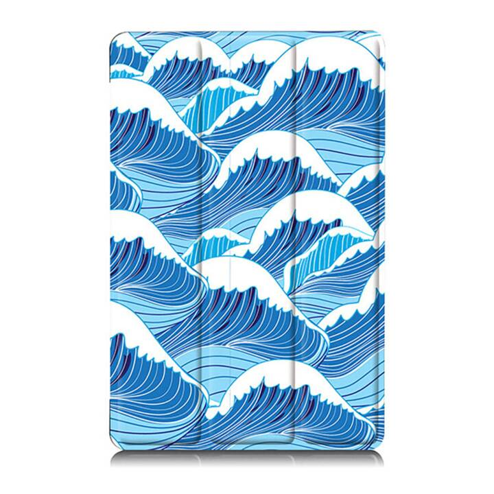 """EG MTT Sacoche à comprimés avec couvercle rabattable pour Samsung Galaxy Tab A A6 7"""" - Blue wave"""