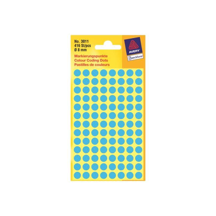 Avery Zweckform - étiquettes rondes - 416 étiquette(s) - diamètre 8 mm