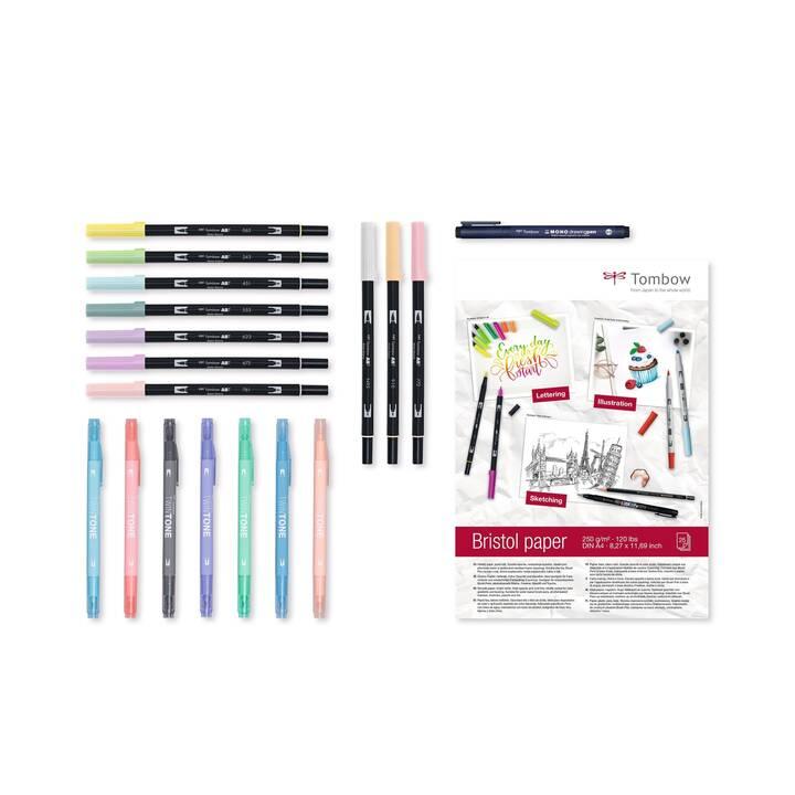 TOMBOW Marcatore creativo (Multicolore, 19 pezzo)