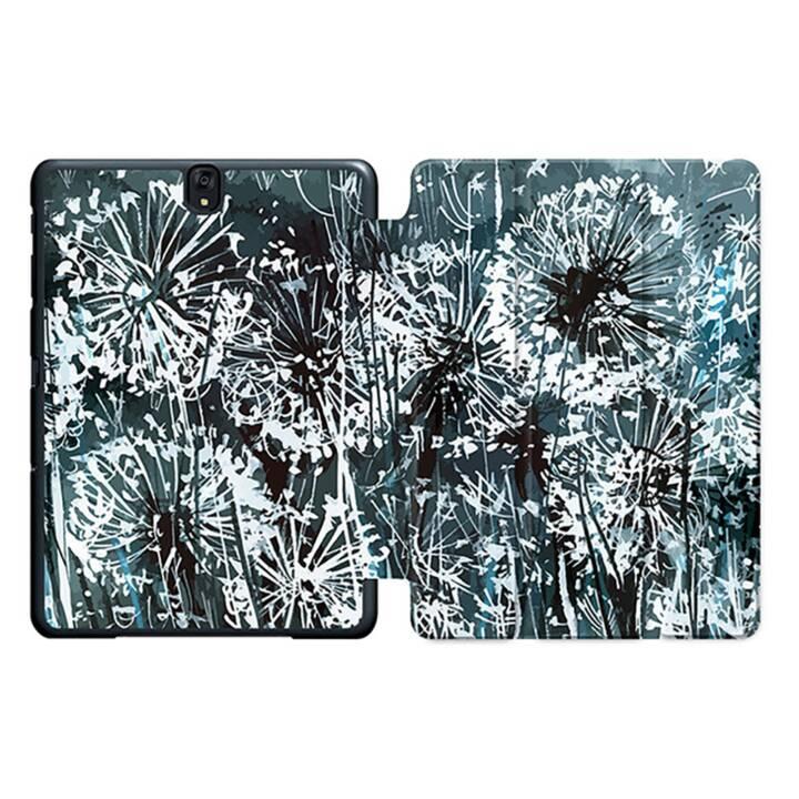 """EG MTT Sacoche à comprimés avec housse Smart pliable pour Samsung Galaxy Tab S3 9.7"""" MTT - Fleurs grises"""