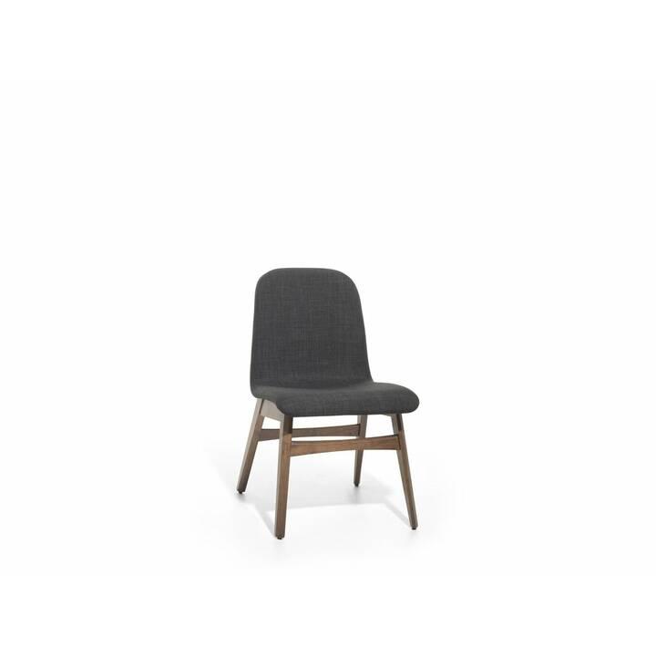 BELIANI Chaise en bois Madox (hévéa, Polyester)