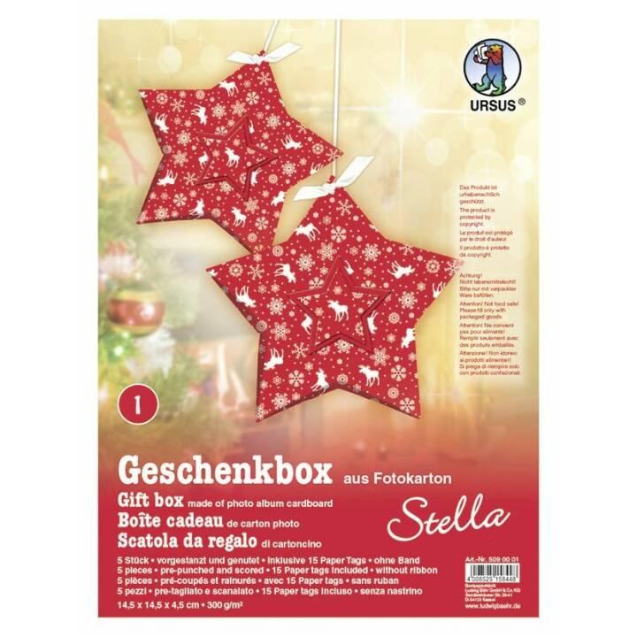 URSUS Geschenkbox Stella Rentiere 5 Stüc