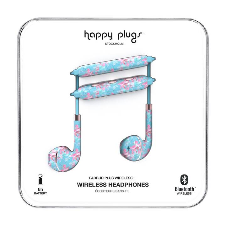 HAPPY PLUGS Wireless II Botanica Exotica (In-Ear, Bluetooth, Multicolore)