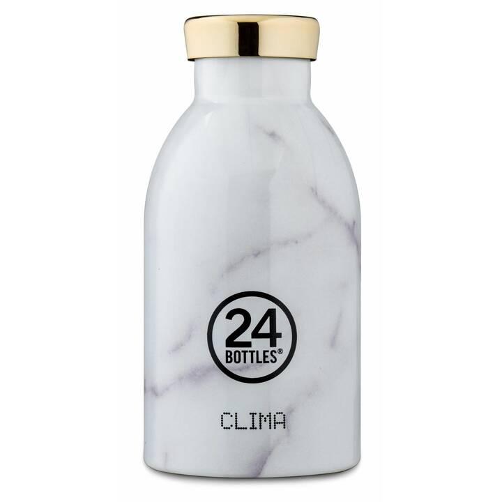 24BOTTLES Bottiglia sottovuoto Clima (0.33 l, Bianco, Grigio)