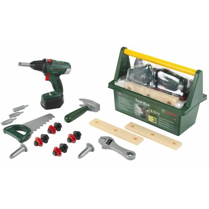 KLEIN-TOYS Tool BOSCH Toolbox + cacciavite a batteria