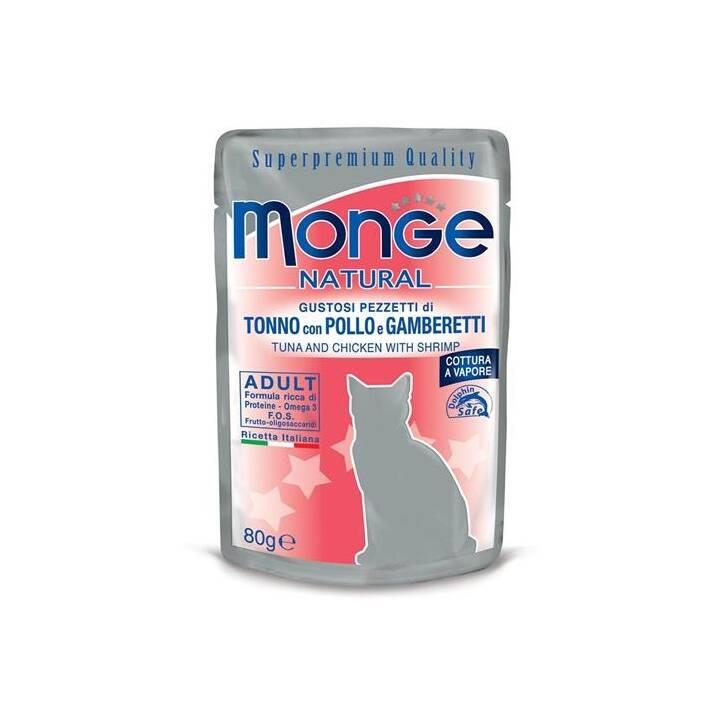 MONGE Nassfutter (Adult, 80 g, Thunfisch, Geflügel)