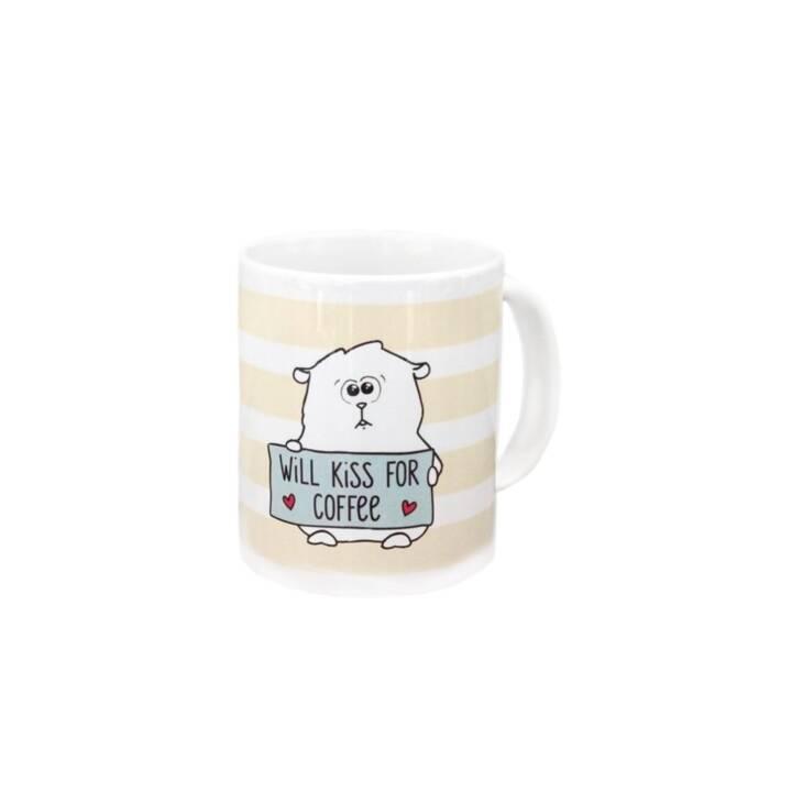 GRÄTZ VERLAG Kaffeebecher Will kiss for coffee (300 ml)
