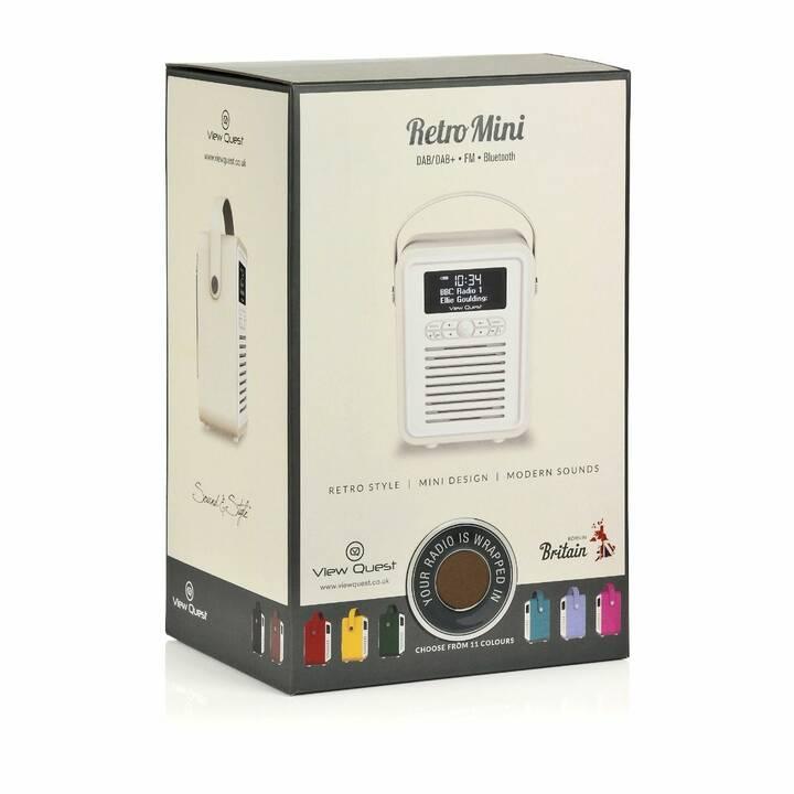 VIEW_QUEST Retro Mini Radio per cucina / -bagno (Marrone)