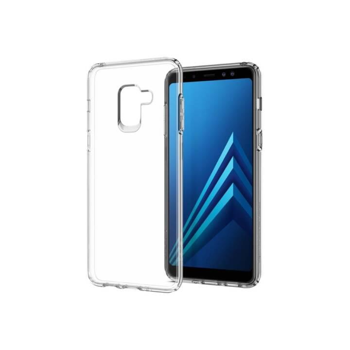 SPIGEN Backcover Liquid Crystal (Galaxy A8 (2018), Transparent)