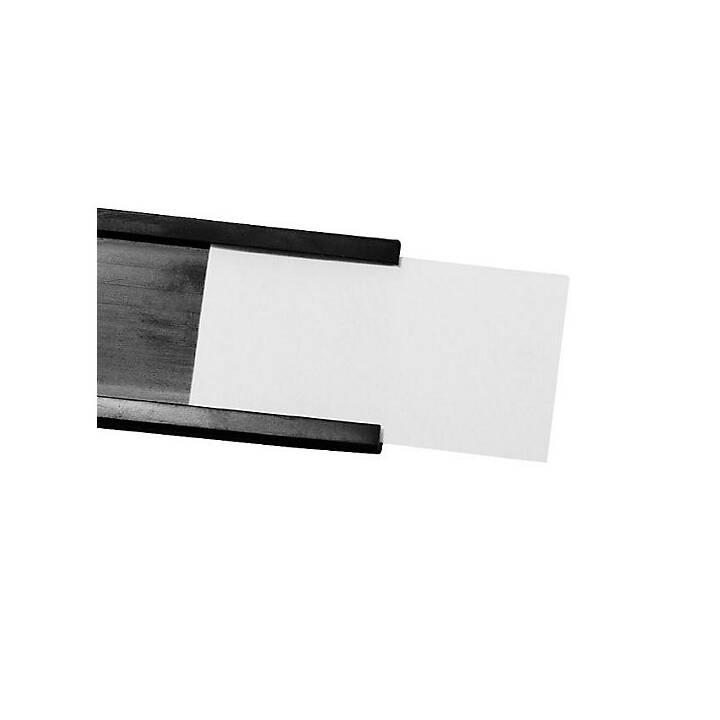 MAGNETOPLAN Porta etichetta C-Profil 50mx20mmx1mm (Nero)