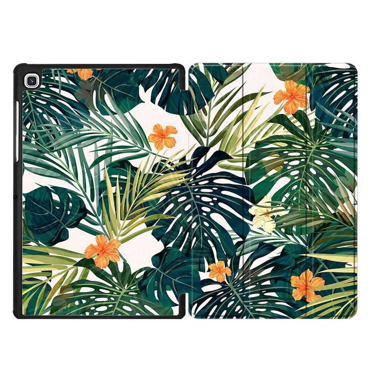 "EG MTT Housse pour Samsung Galaxy Tab S5e 10.5"" 2019 - plantes tropicales"